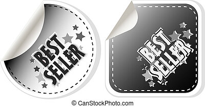 Best seller stickers set isolated on white
