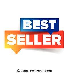 Best seller tag speech bubble