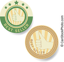 """BEST SELLER"" Tag  vector"