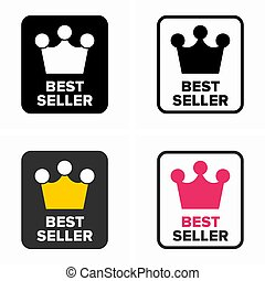 Best seller, top rate item category symbol