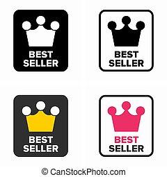 Best seller, top rate item category symbol