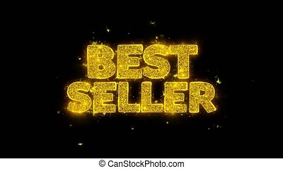 Best Seller Typography Written with Golden Particles Sparks...