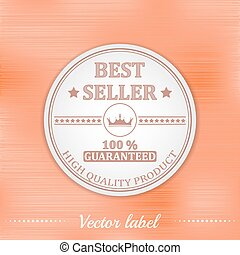 Best seller vector label