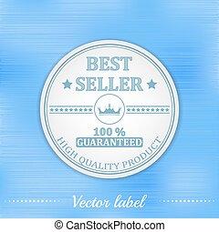 Best seller vector label