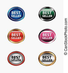 Best seller web icon isolated
