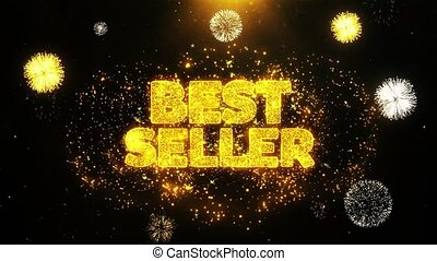 Best Seller Wishes Greetings card, Invitation, Celebration Firework Looped