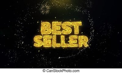 Best Seller Written Gold Particles Exploding Fireworks...