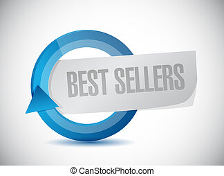 best sellers cycle illustration design over white background