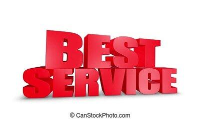 Best Service 3D Text Come Down 3D Animation Render.