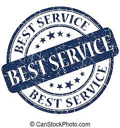 Best service blue stamp