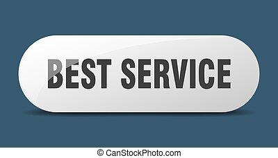 best service button. best service sign. key. push button.