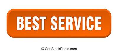 best service button. best service square 3d push button