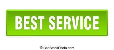 best service button. best service square green push button