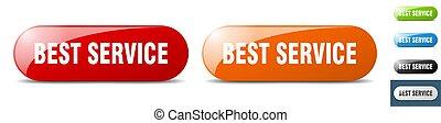 best service button. key. sign. push button set