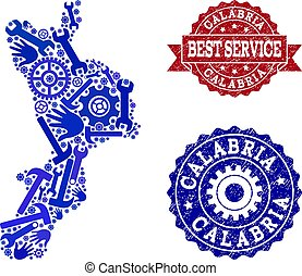 Best Service Composition of Map of Calabria Region and...