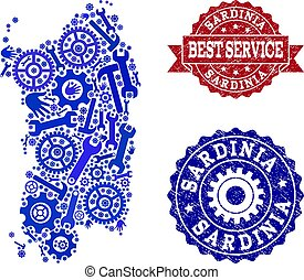 Best Service Composition of Map of Sardinia Region and...