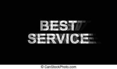 Best Service Glitch Effect Text Digital TV Distortion 4K...