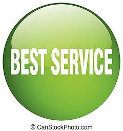 best service green round gel isolated push button