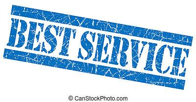Best service grunge blue stamp