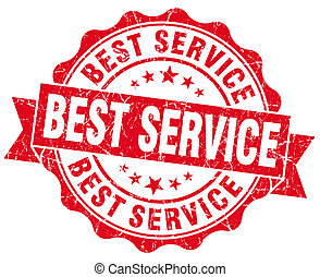 Best Service Grunge Stamp