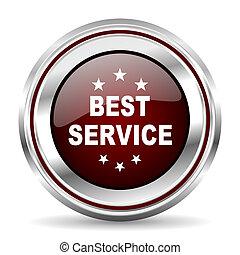best service icon chrome border round web button silver metallic pushbutton