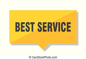 best service price tag - best service yellow square price ...