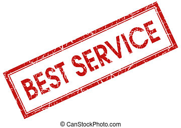 best service red square stamp