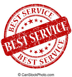 Best service red stamp