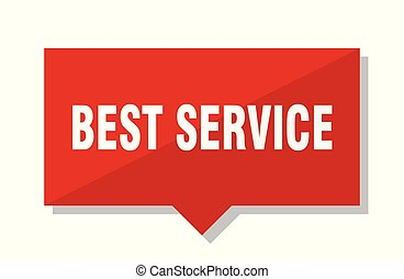 best service red tag