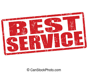 Best service stamp - Best service grunge rubber stamp on...