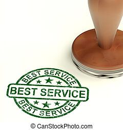 Best Service Stamp Showing Top Customer Assistance - Best...