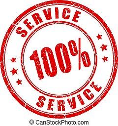 Best service vector stamp