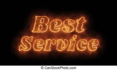 Best Service Word Hot Animated Burning Realistic Fire Flame...