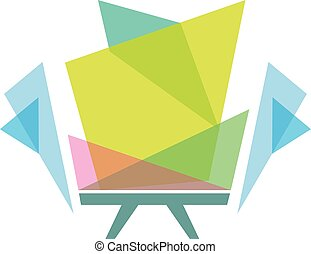 Best simple vector colorful furniture logo