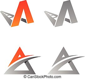 Best simple vector letter A logo