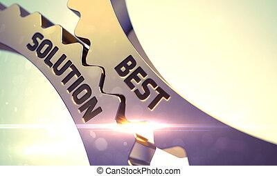 Best Solution on the Golden Metallic Cogwheels.