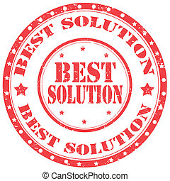Best Solution-stamp - Grunge rubber stamp with text Best...