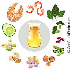 Best sources of omega 3 vector