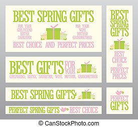 Best Spring gifts banners.