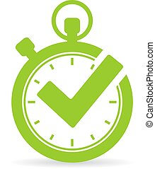 Best time vector icon
