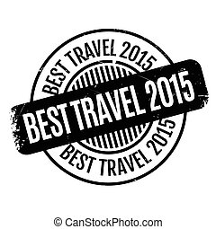 Best Travel 2015 rubber stamp