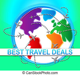 Best Travel Deals Meaning Bargains 3d Illustration - Best...