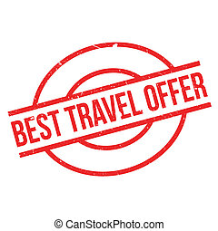 Best Travel Offer rubber stamp