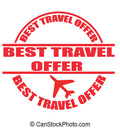 best travel offer stamp