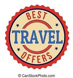 Best travel offers label or stamp