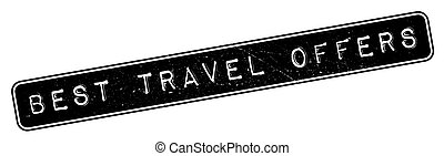 Best Travel Offers rubber stamp