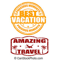 best, vakantie, verbazend, reizen, postzegels