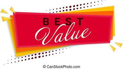 Best Value Banner Template Design. Vector Illustration.