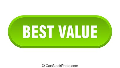 best value button. best value rounded green sign. best value