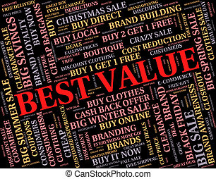 Best Value Represents Number One And Cost - Best Value ...